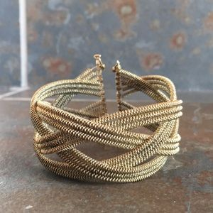 Anthropologie gold tone cuff bracelet